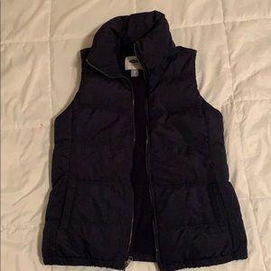 Old Navy Dark Blue Puffer Vest